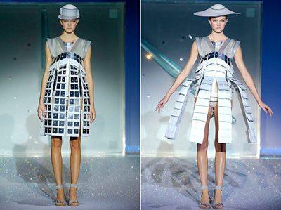 convertible dress chalayan Designer Crochet: Hussein Chalayan
