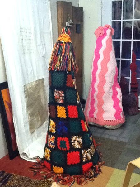 crochet art sculpture Found Art Crochet Artist Melissa Maddonni Haims