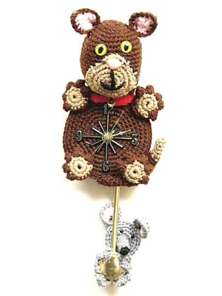 crochet cat clock 20 Most Sensational Crochet Clocks