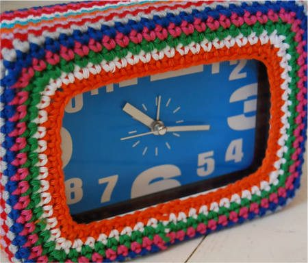 crochet clock cover 20 Most Sensational Crochet Clocks