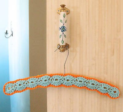 crochet clothes hanger