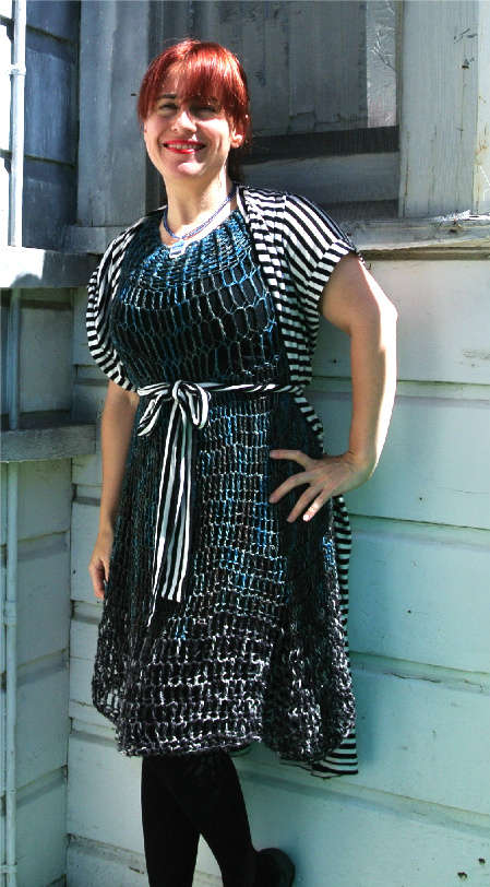 crochet dress with wrap Crochet Style Ideas for Bold Black and White Wrap Dress