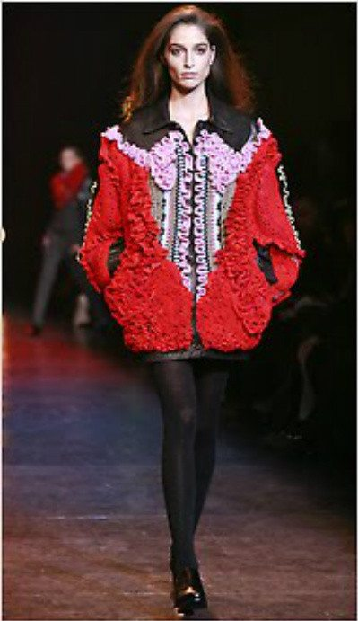 crochet jacket Designer Crochet: The 50 Famous Fashion Designers Project