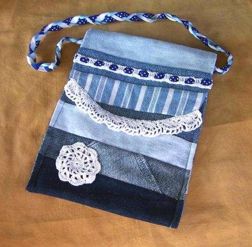 Crochet Jeans : crochet jeans purse