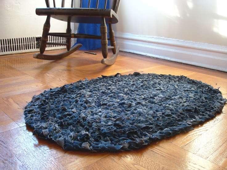 crochet jeans rug
