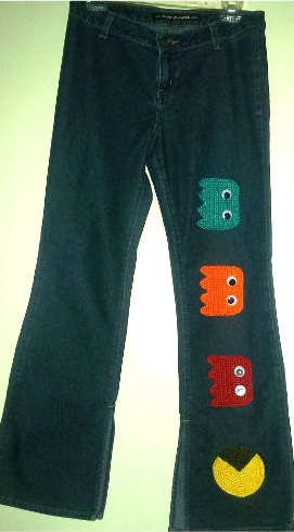 crochet jeans 10 Ideas for Upcycling Denim with Crochet