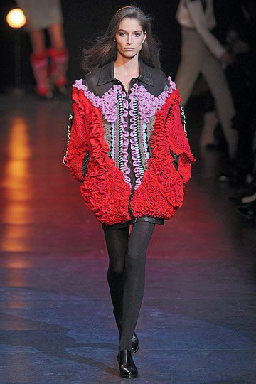 crochet leather jacket Designer Crochet: Hussein Chalayan