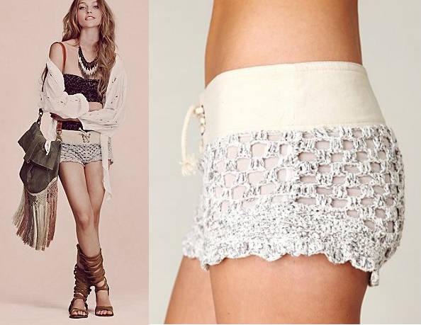 crochet mesh shorts 25 Ravishing Pairs of Crochet Shorts