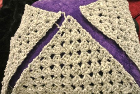 crochet pillow cover Repurposing One Crochet Pillow Into Another