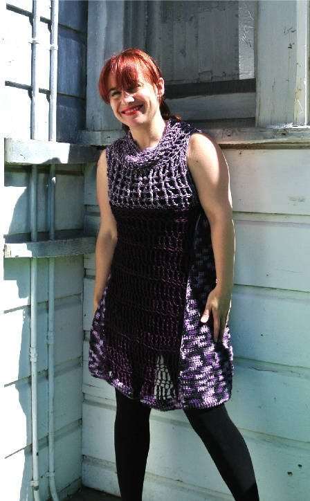 Post image for New Crochet Dress: Shades of Purple