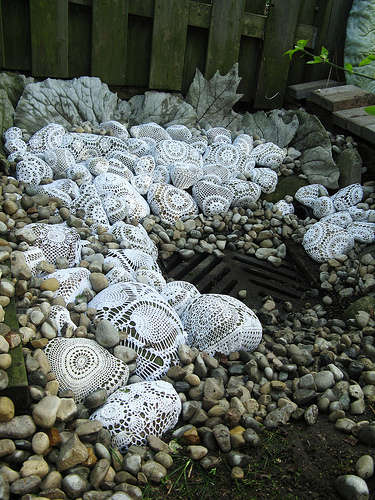 crochet rocks Inspiring Crochet Gardens: Projects and Ideas for the Home