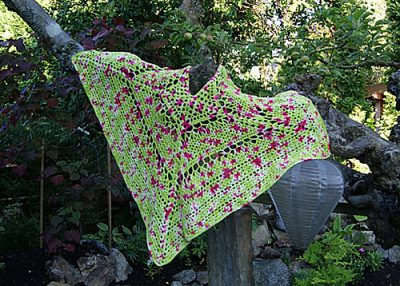crochet shawl 400x286 10 Crochet Shawls in Trees (and 8 Other Ways to Display your Finished Shawl)