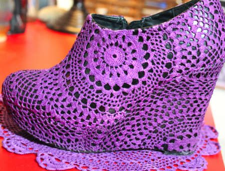 doily shoes When A Doily Is Not Just a Doily: Curtains, Clocks, Necklaces and Other Upcycled Doily Ideas