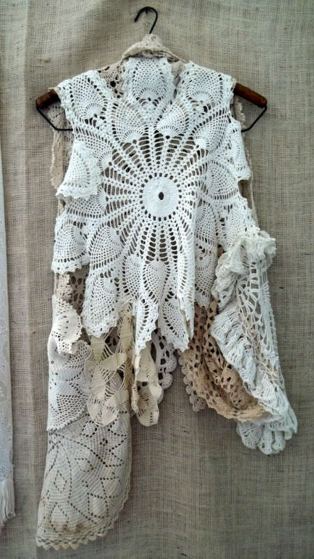 when a doily is not just a doily  curtains  clocks