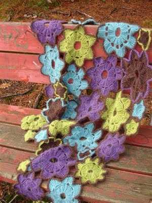 flower crochet shawl 10 Crochet Shawls in Trees (and 8 Other Ways to Display your Finished Shawl)