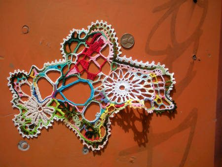 free form crochet art