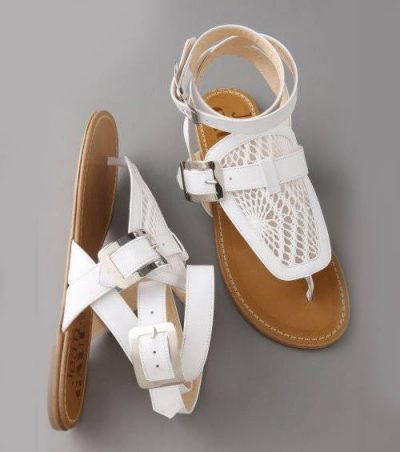 gaultier crochet sandals 400x452 Designer Crochet: Jean Paul Gaultier