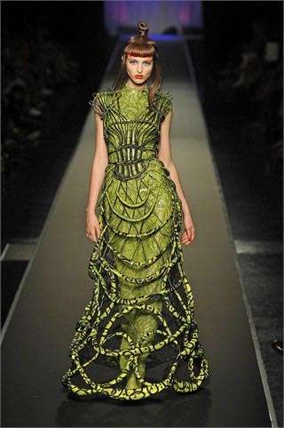 gaultier green dress Designer Crochet: Jean Paul Gaultier