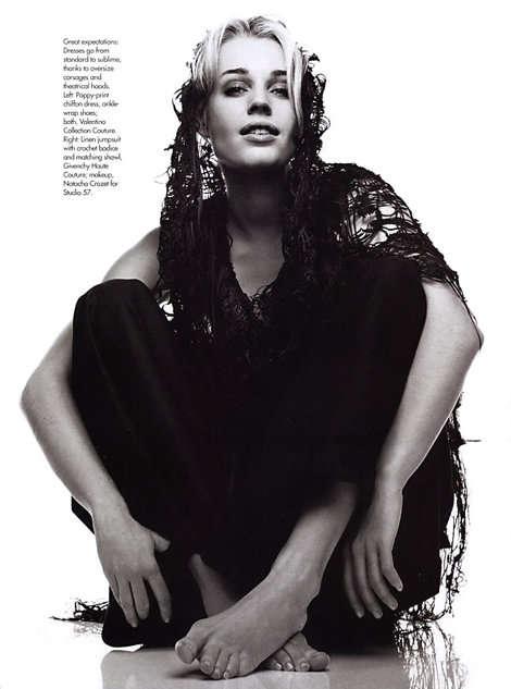 traje de Givenchy ganchillo