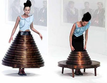 hussein chalayan table dress Designer Crochet: Hussein Chalayan