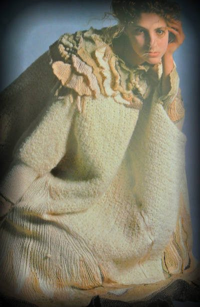 knit crochet wearable art Edgy 1970s Crochet Designers: Norma Minkowitz