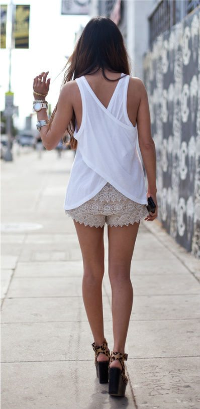 lace shorts 25 Ravishing Pairs of Crochet Shorts