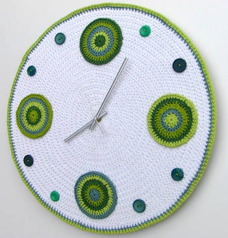large crochet wall clock 20 Most Sensational Crochet Clocks