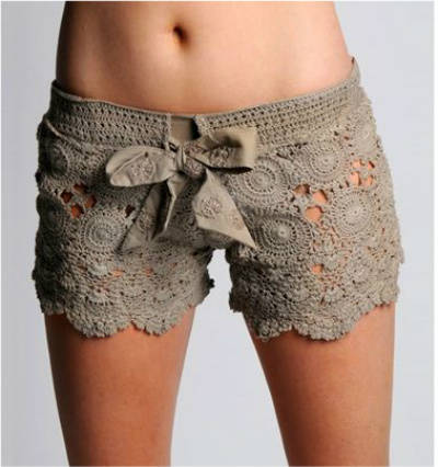 letarte crochet shorts 25 Ravishing Pairs of Crochet Shorts
