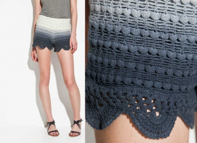 ombre crochet shorts 400x291 25 Ravishing Pairs of Crochet Shorts