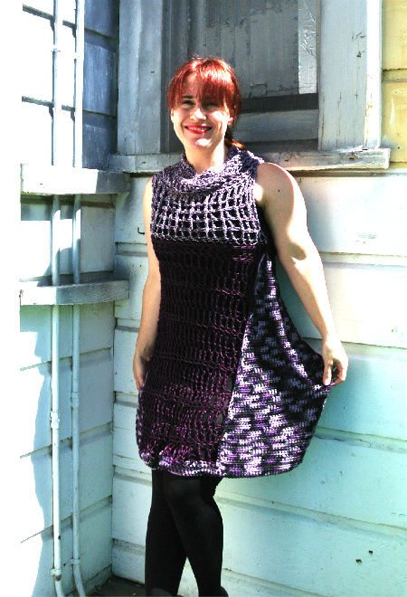 purple crochet dress Crochet Blog Roundup: May