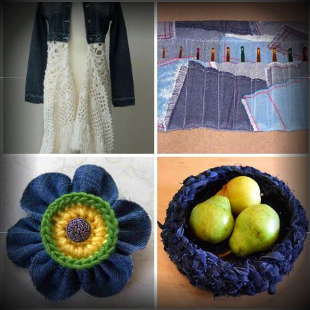 recycled crochet denim