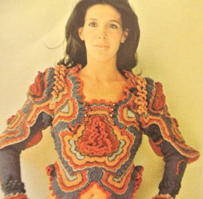 sharron hedges freeform crochet blouse 400x393 2012 in Crochet: Vintage, Retro and 1970s Crochet