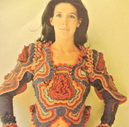 sharron hedges freeform crochet blouse Edgy 1970s Crochet Designers: Sharron Hedges
