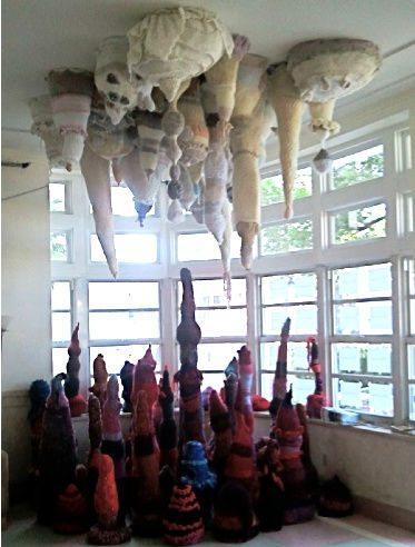 stalactites stalagmites Found Art Crochet Artist Melissa Maddonni Haims