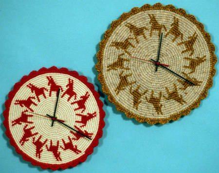 tapestry crochet clocks