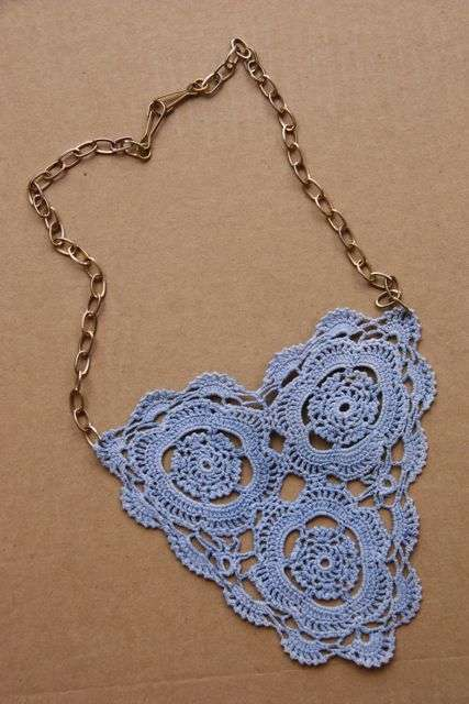 upcycled doily necklace When A Doily Is Not Just a Doily: Curtains, Clocks, Necklaces and Other Upcycled Doily Ideas
