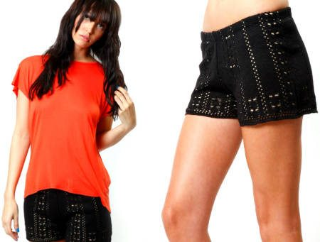 woodleigh crochet shorts 25 Ravishing Pairs of Crochet Shorts