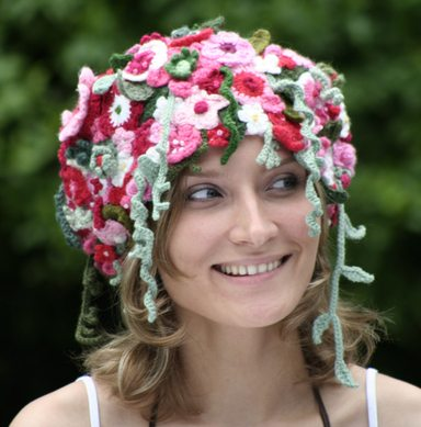 Pink Whimsical Meadow Hat 10 Beautiful Crochet Hats, a Pinterest Selection