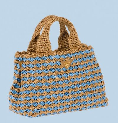 Prada crochet bag Celebrity and Designer Crochet: June Roundup