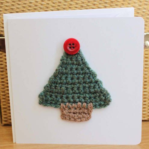 Knitting Patterns For Christmas Cards : 15 Fun Project Ideas for Crocheters who Love Buttons   Crochet Concupiscence
