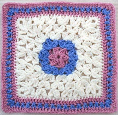 crochet afghan square Popular Crochet Pattern: In Treble Afghan Square