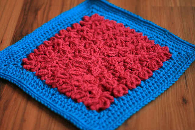 Popular Crochet Pattern In Treble Afghan Square Crochet Patterns