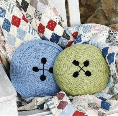 crochet button pillows 15 Fun Project Ideas for Crocheters who Love Buttons