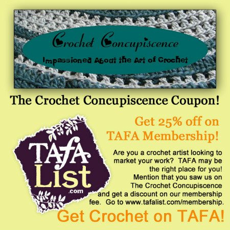 crochet discount tafa TAFA Discount for My Readers: Market Your Crochet Work!