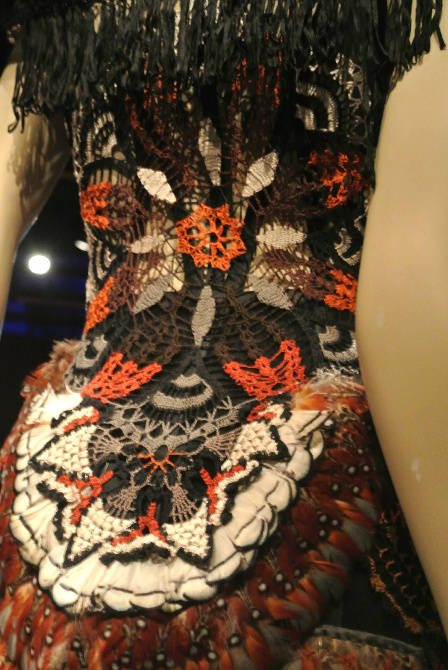 crochet feather dress Crochet at Gaultier Exhibit