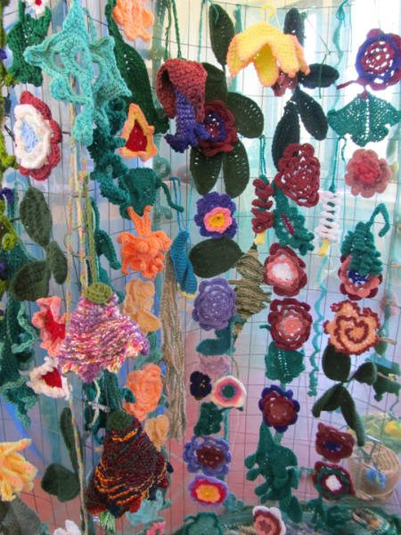crochet flower gardens Dazzling Yarn Garden Now on Display