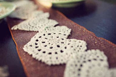 crochet heart bunting for weddings 400x267 Crochet Recycling / Upcycling and Other Green Ideas for Earth Day!