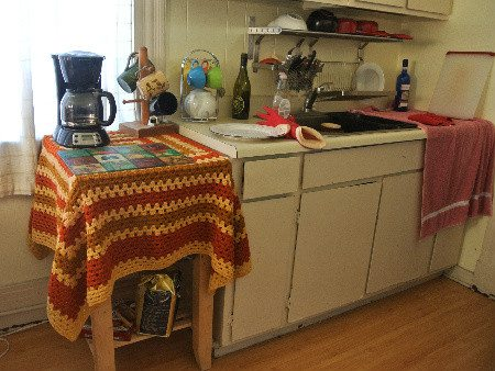 crochet kitchen Welcome to My Crochet Covered Home (Photo Tour)