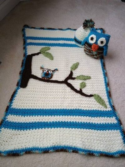 crochet owl blanket 400x533 Crochet Blog Link Love!