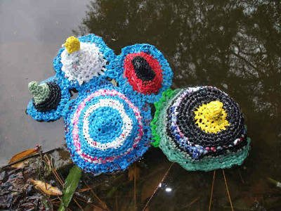 crochet plastic art